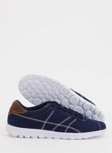 DeFacto Sneaker Bağcıklı Ayakkabı Lacivert